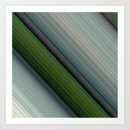 Decorative Colorful Green Blue Lines Design Art Print