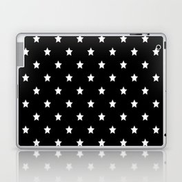 Black Background With White Stars Pattern Laptop & iPad Skin