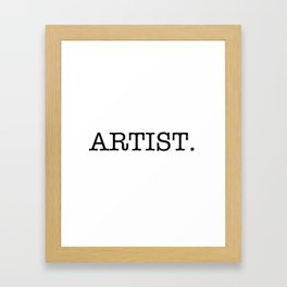 Artist Framed Art Print
