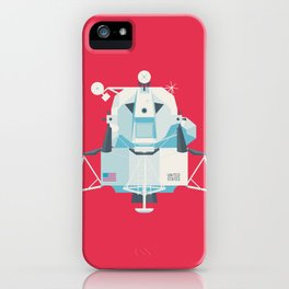 Apollo 11 Lunar Lander Module - Plain Crimson iPhone Case
