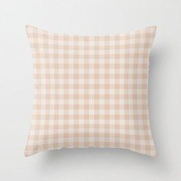 Gingham Pattern - Warm Neutral Throw Pillow