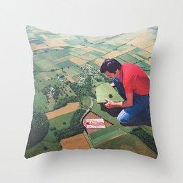Hide and seek - Land Throw Pillow