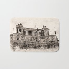 Altar of the Fatherland, Rome Bath Mat