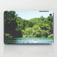 swim iPad Cases featuring Swim by Christine Hall