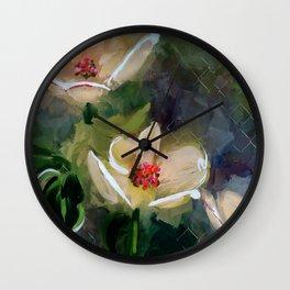 Night Blooming Dogwood Wall Clock