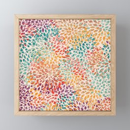 Festive, Abstract, Colorful, Floral Prints Framed Mini Art Print