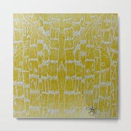 Yellow Sugarcane Metal Print