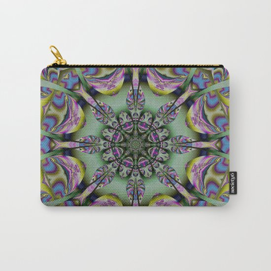 Colourful mandala with decorative shapes and tribal patterns Carry-All Pouch