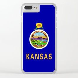 Kansas State Flag Clear iPhone Case