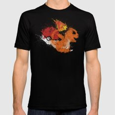 Fire Starter Black MEDIUM Mens Fitted Tee