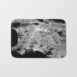Los Angeles map Bath Mat