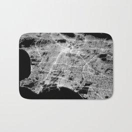 Los Angeles map Bath Mat