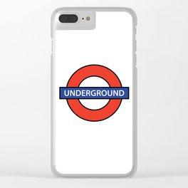 London Underground Clear iPhone Case