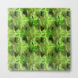 Tropical Greens Metal Print