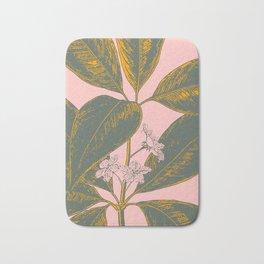 Modern Botanical Banana Leaf Bath Mat