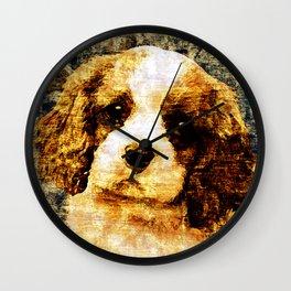 「sit」Cavalier King Charles Spaniel Wall Clock
