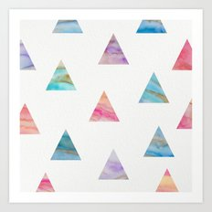 Marble Triangles Art Print