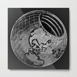Symmes's Theory of Concentric Spheres Metal Print