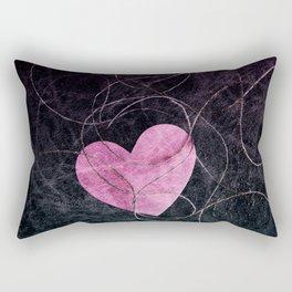 Heart grunge Rectangular Pillow