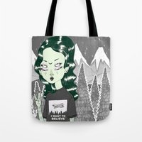 loll3 Tote Bags featuring ☽ ZELINA ☾ by lOll3
