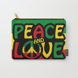Peace And Love, Reggae Design Carry-All Pouch