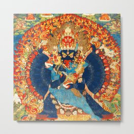 Tantric Buddhist Vajrabhairava Deity 1 Metal Print