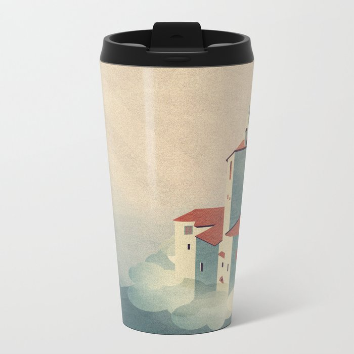 Castle in the Sky Metal Travel Mug