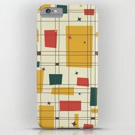 Mid-Century Modern (gold) iPhone Case