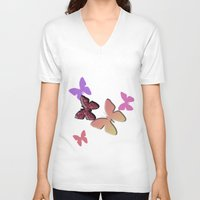 butterflies V-neck T-shirts featuring Butterflies by Judith Lee Folde Photography & Art