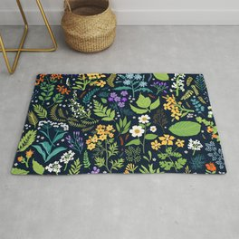 Pattern with flowers. Modern floral background. Rug