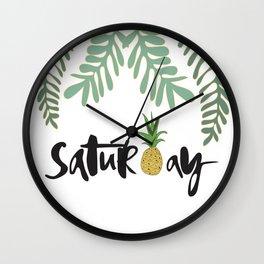 Saturday Vibez Wall Clock
