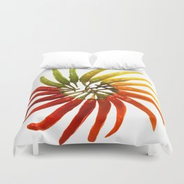 Charleston Hot Peppers Color Wheel Duvet Cover