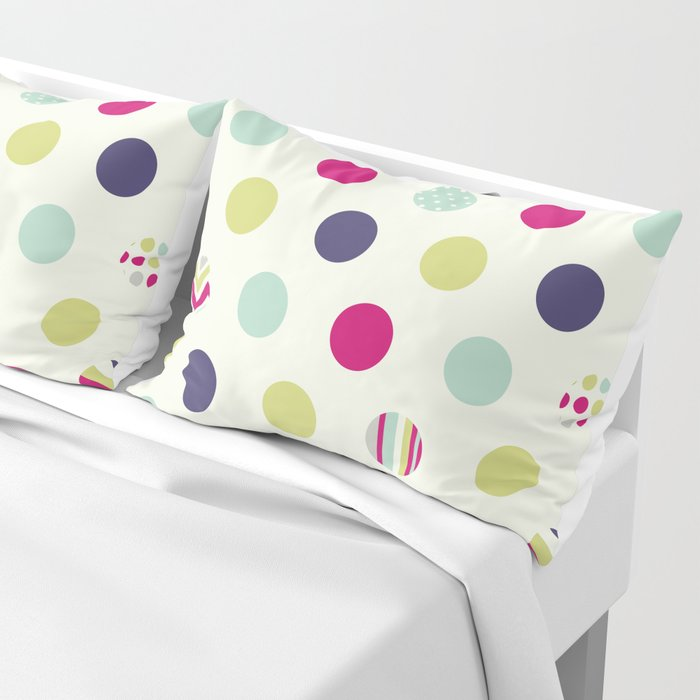 Colorful Dots Pillow Sham