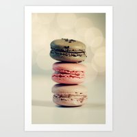 macarons Art Prints featuring macarons . . . by [o] Suze q