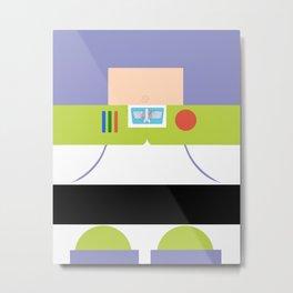 Buzz Lightyear Minimalist Metal Print