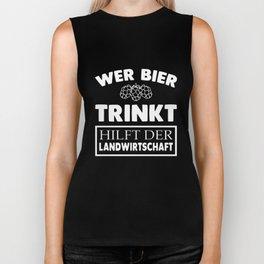 wer bier trinkt dutch t-shirts Biker Tank
