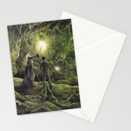 Harry and Dumbledore in the Horcrux Cave Stationery Cards