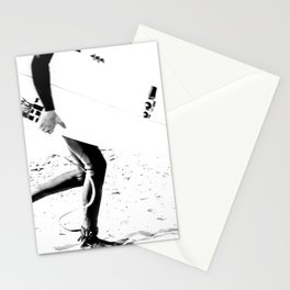 Surfers // Modern and Vintage Beach Aesthetic Photography of Cool Artsy Black and White Landscape Stationery Cards