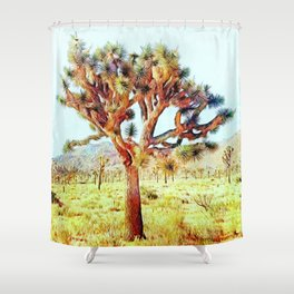 Joshua Tree VG Hills by CREYES Shower Curtain