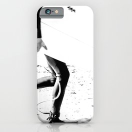 Surfers // Modern and Vintage Beach Aesthetic Photography of Cool Artsy Black and White Landscape iPhone Case
