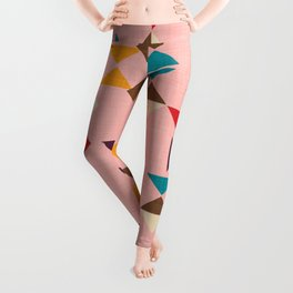 Triangle mod pink Leggings