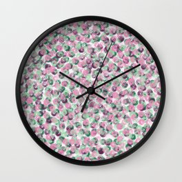 The Flowers Between Us Wall Clock