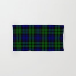 Scottish Campbell Tartan Pattern-Black Watch #1 Hand & Bath Towel