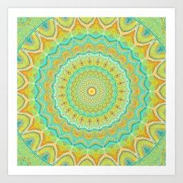 Citrus Burst - Mandala Art Art Print