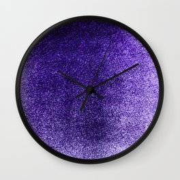 Amethyst Mist Field Wall Clock