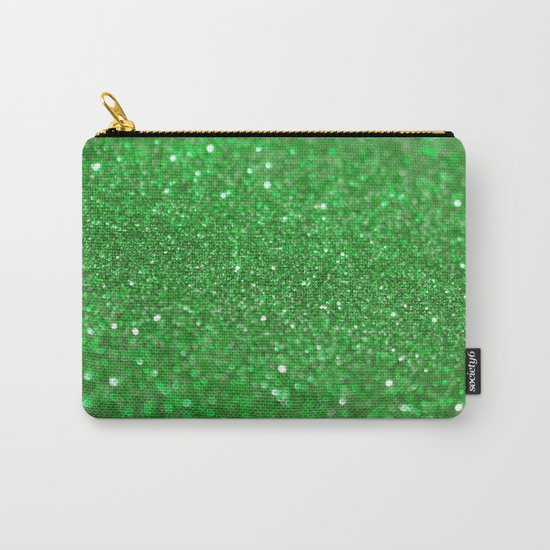 Bright Green Glitter Carry-All Pouch