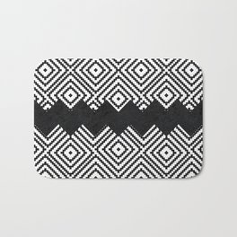 Black and White Tiles Bath Mat