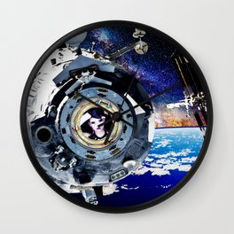 Objects in Space Wall Clock