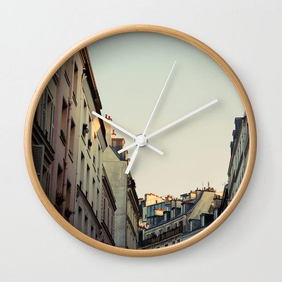 Pastel Paris Wall Clock