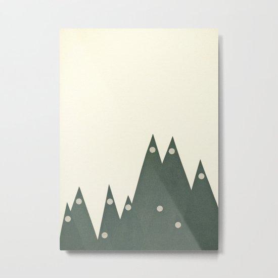 Moonlit Peaks Metal Print